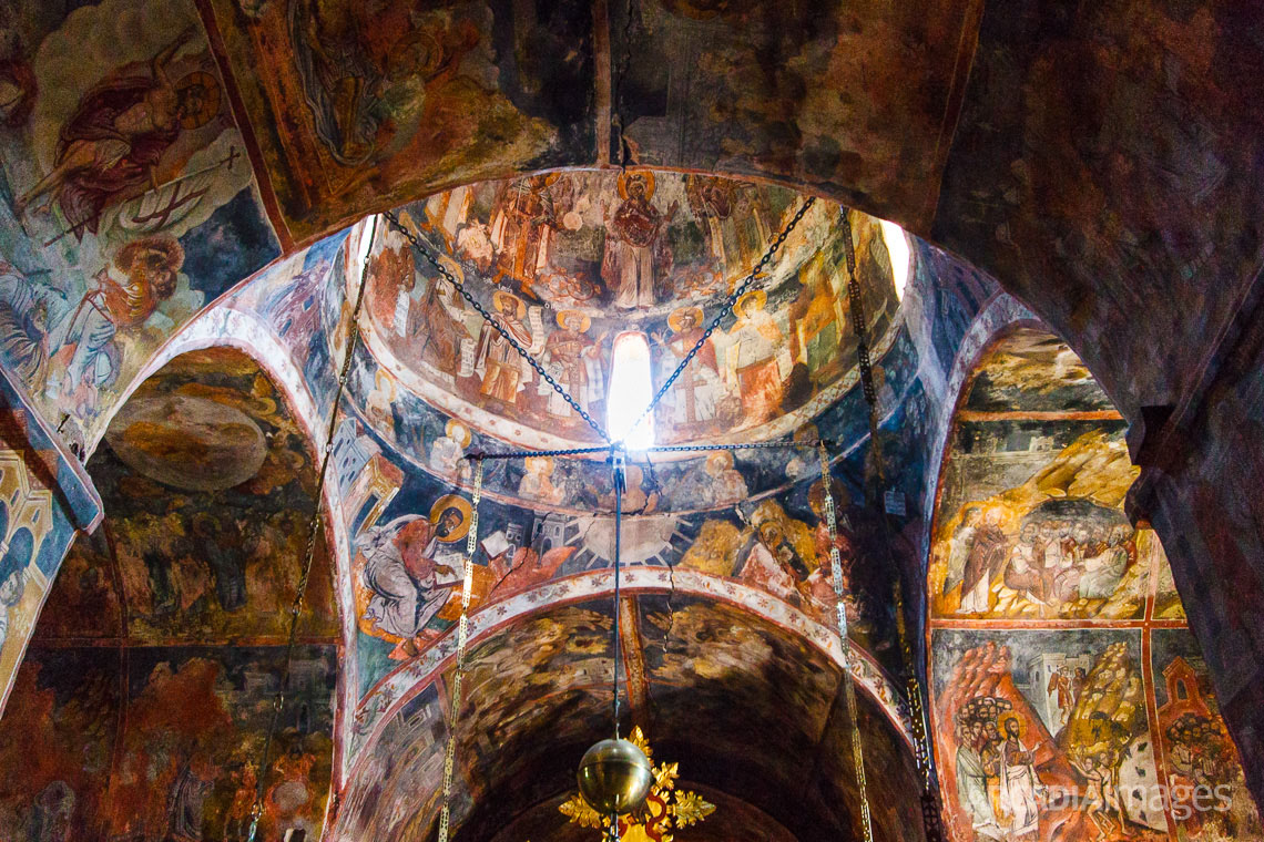 Iconography inside the church of the Assumption of Mary. Philosophou monastery, Arcadia, Peloponnese