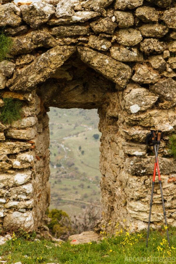 The remnants of a gate at Orea's Castle. Kynouria, Arcadia, Peloponnese.