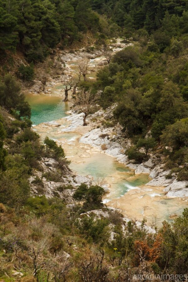 Vrassiatis river in Lepida gorge. Kynouria, Arcadia, Peloponnese.