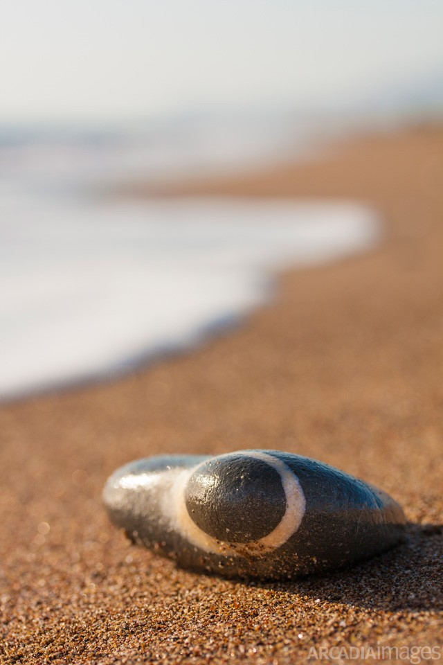 A pebble at Elaia beach. Messenia, Peloponnese, Greece