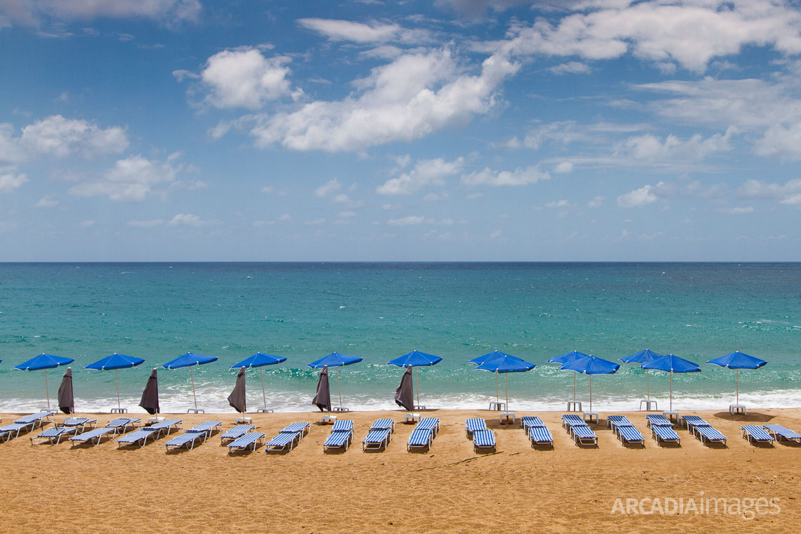 The Golden beach is close to Vromoneri, a few kilometers north of Gialova. Messenia, Peloponnese