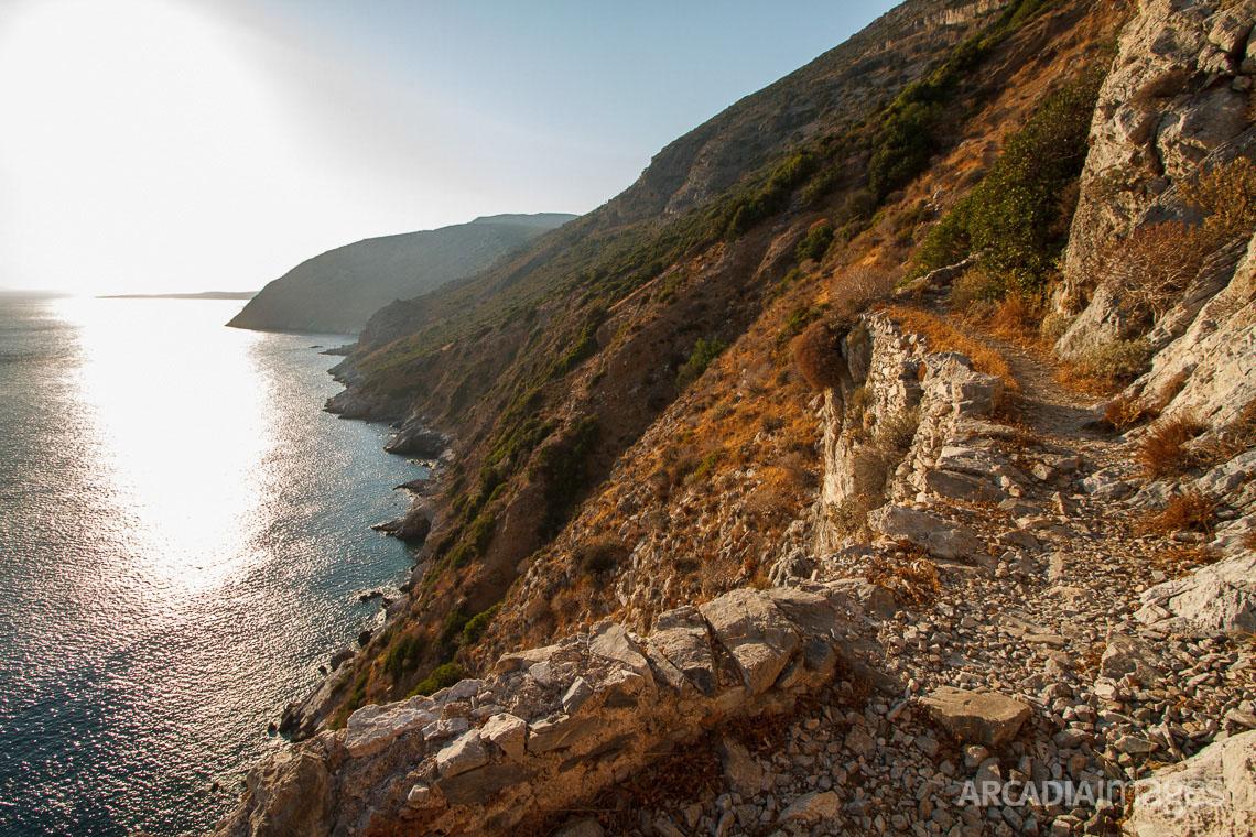 The path leading to Aghia Eirini (Saint Irene) monastery, Cape Malea, Laconia, Peloponnese