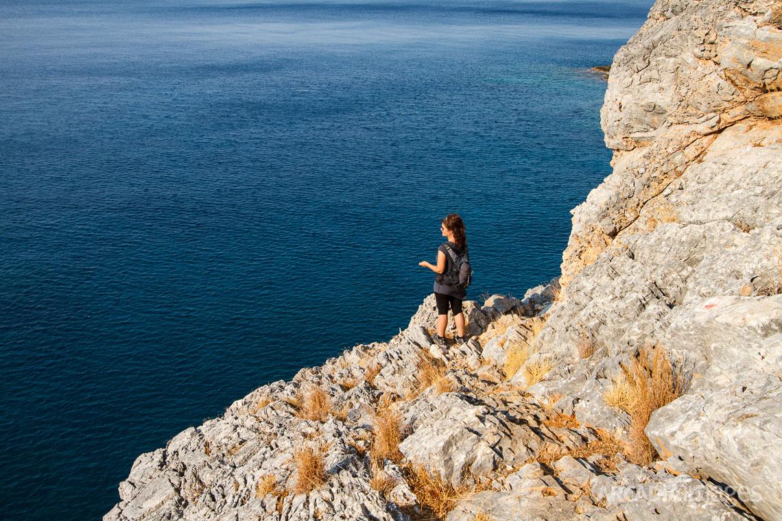 Hiking near Aghia Eirini (Saint Irene) monastery, Cape Malea, Laconia, Peloponnese