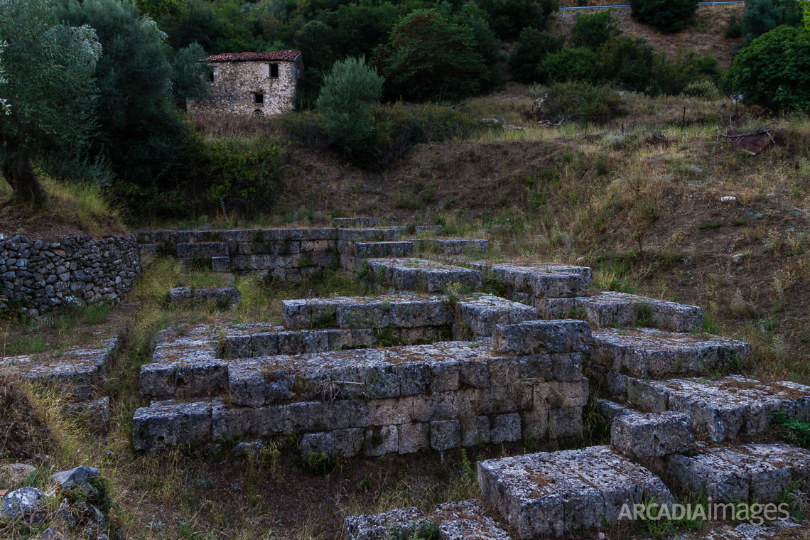 Ruins of the Asclepeion at ancient Gortys. Arcadia, Peloponnese
