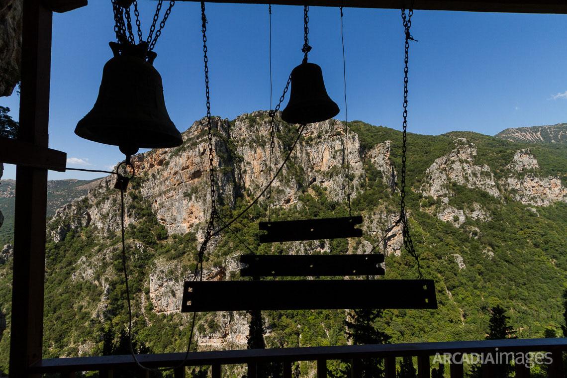 Bells at Prodromou Monastery. Arcadia, Peloponnese