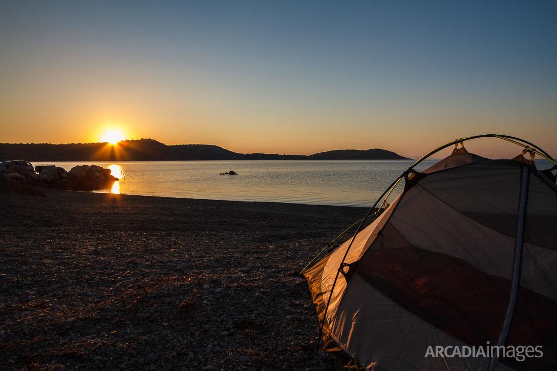 Sunrise at Agia Varvara beach, Skoutari, Laconia, Peloponnese